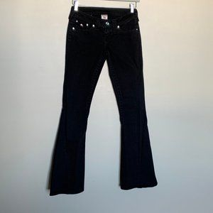 True Religion disco joey black flare jeans size 26